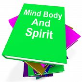 Mind Body And Spirit Book Stack Shows Holistic Books