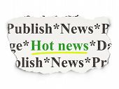 News concept: Hot News on Paper background