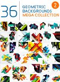 picture of geometric  - Mega collection of geometric shape abstract backgrounds - JPG