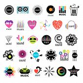 stock photo of heart sounds  - biggest collection of vector icons music and sounds - JPG