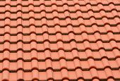 pic of red roof tile  - Background from the classic orange roof tile - JPG