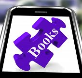 Books Smartphone Means E-book Or Reading App