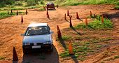 stock photo of driving school  - rural driving test center driving school scene - JPG