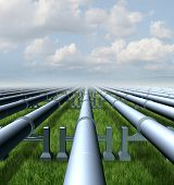picture of gases  - Gas pipeline concept as a group of three dimensional metal pipes transporting liquids and fuel energy gases and petroleum oil products as a symbol of distribution and transportation of power commodities - JPG