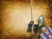 stock photo of armor suit  - Armored knight on warhorse  - JPG