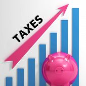 pic of tariff  - Taxes Graph Showing Increase In Taxes And Tariffs - JPG