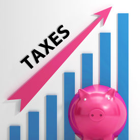 foto of tariff  - Taxes Graph Showing Increase In Taxes And Tariffs - JPG