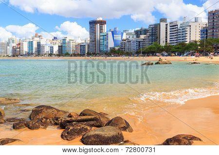 Beach Praia Da Costa, Sand, Sea, Vila Velha, Espirito Santo, Brazil