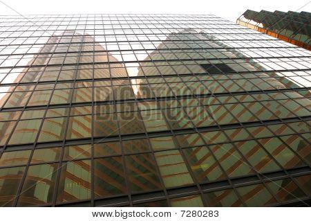 Skyscraper Reflections. Hong Kong.