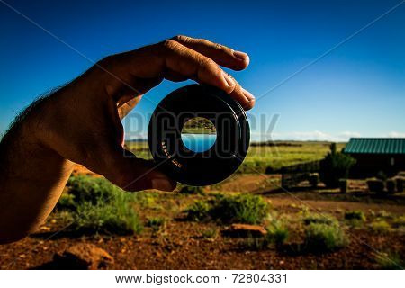 Holding a lens