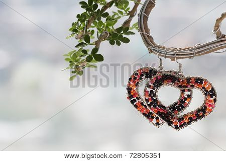 Heart Love Symbol On Tree