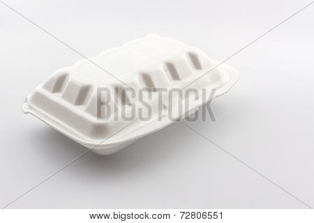 White Styrofoam Box.