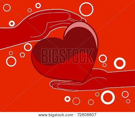 Love Heart Gift - Illustration