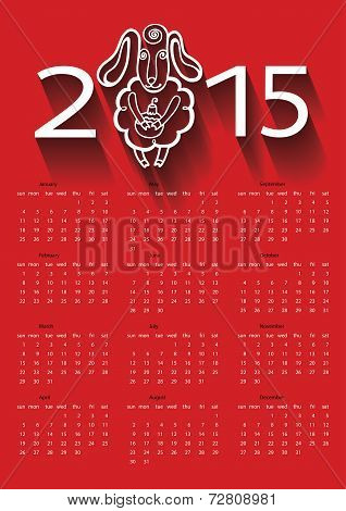 Figures with sheep.Calendar . Year of Sheep