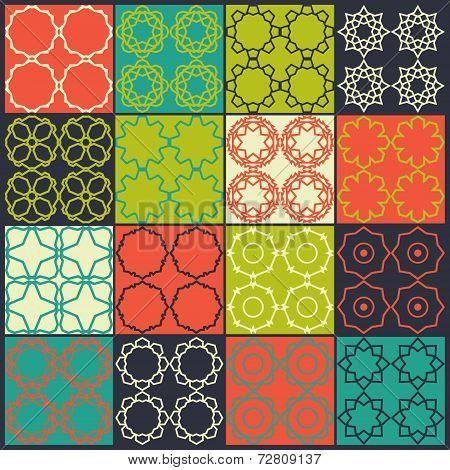 Set Of 16 Seamless Patterns