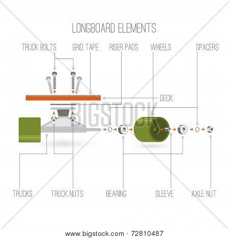 Longboard Elements Infographic