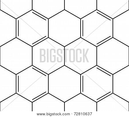 Abstract Seamless Chemical Background - Pattern On White
