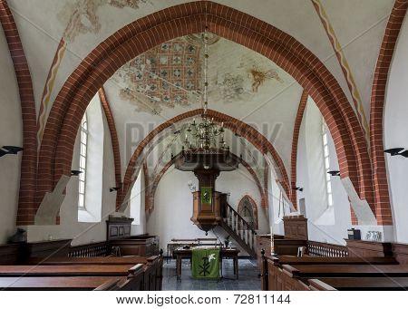 Interior Of Church Den Andel