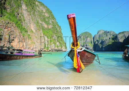 Long Tailed Boat. Thailand Phi-phi Island