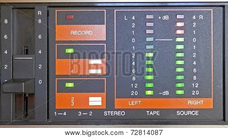 Metering Panel With Led Display On The Tape Recorder