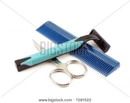 Razor, Scissors And Comb
