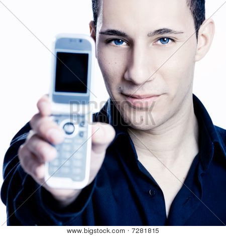 Showing A Cellphone