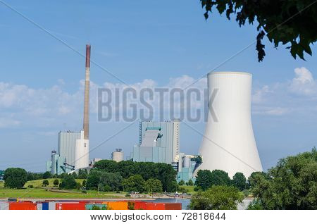 Coal-fired Power Plant On The Rhine