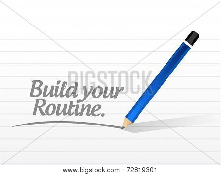 Build Your Routine Illustration Design