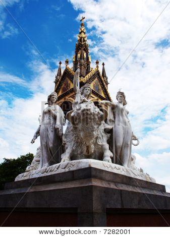 Statues Of The Prince Albert Memorial In London