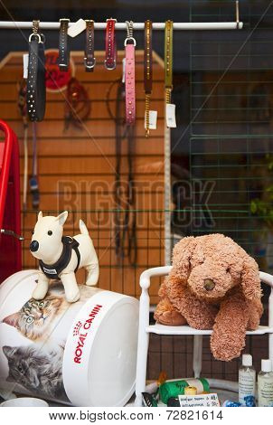 Pet shop window