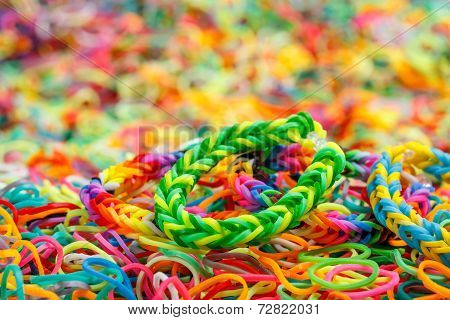 Colorful Rainbow Loom Bracelet