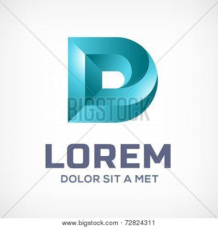 Letter D 3d logo icon