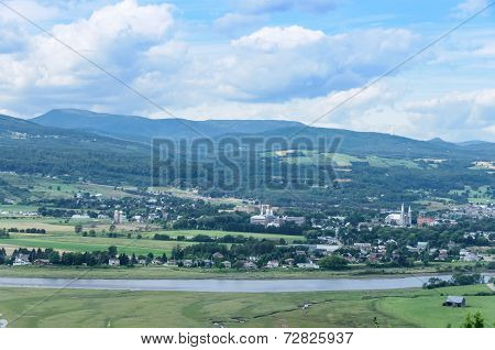 Scenic View Of Quebec Village Of St Paul Bay