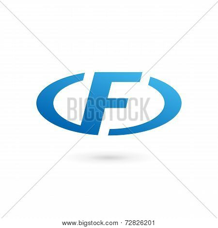 Letter F logo icon design template elements. Vector color sign.