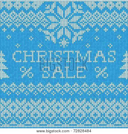 Christmas Sale: Scandinavian style seamless knitted pattern
