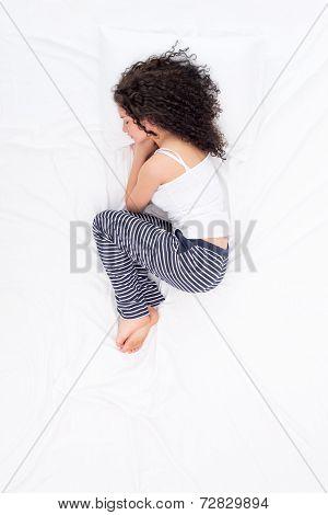 Female sleeping Foetus pose