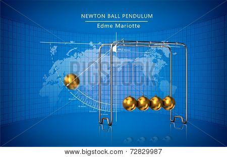 Newton ball pendulum movement laws