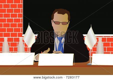 Vector illustration of orator