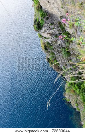 Rock face bordering Lake Garda. Northern Italy