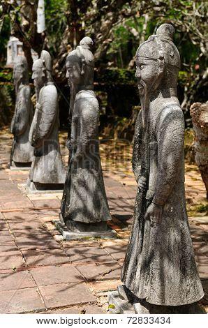 Tu Duc Statues In Vietnam