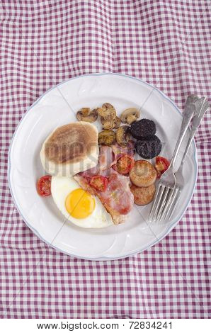British Breakfast Muffin On A Plate
