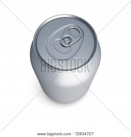 Aluminum Soda Can Isolated On White Background