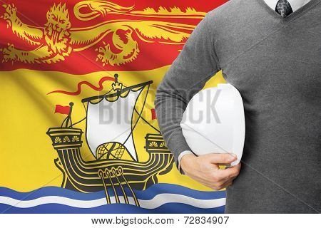 Engineer With Flag On Background Series - New Brunswick