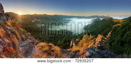 Rocky Moutain At Sunset - Slovakia, Sulov