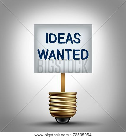 Ideas Wanted