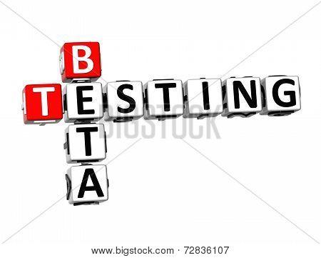 3D Crossword Beta Testing On White Background
