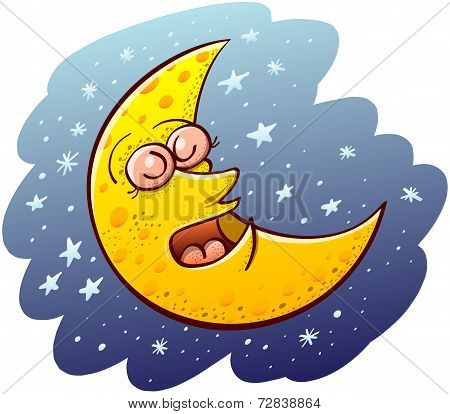 Cool moon sleeping