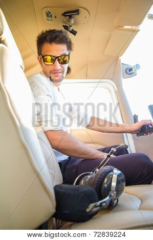 Sexy Pilot In The Plane