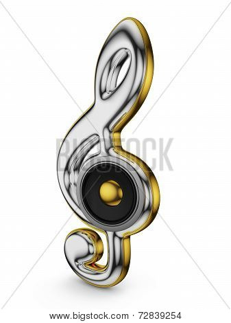 Speaker And  Treble Clef