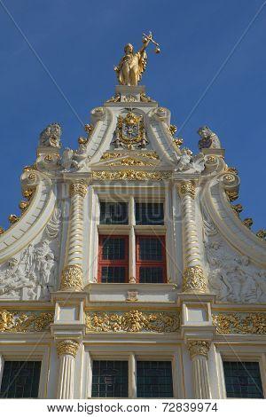 Old Civil Registry In Renaissance Style In Bruges
